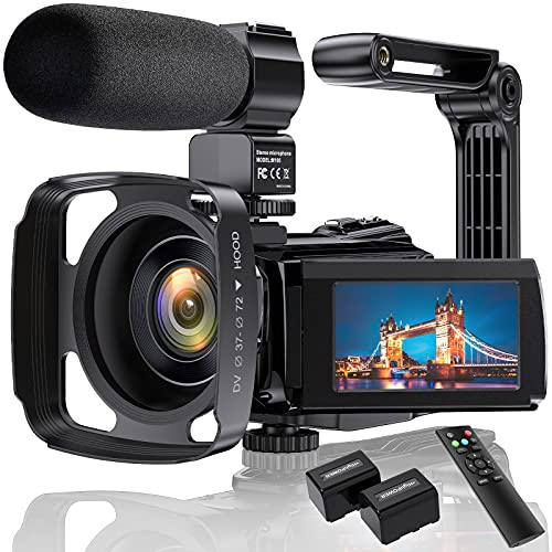Cámara de Video 4K Videocámara Ultra HD 48MP WiFi IR Visión Nocturna Cámara de vlogging para Pantalla táctil IPS de 3 Zoom Digital 16X Grabadora de cámara de Youtube