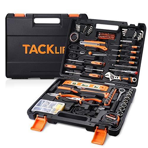 Werkzeugset, TACKLIFE 142 tlg. Werkzeugkoffer für den Heimgebrauch, Haushalts-Werkzeugkoffer hat viele Arten von Werkzeugen und perfekt für die meisten Heimwerkerarbeiten - TLHTS01HD