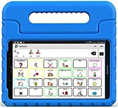 Speech Tablet All-in-1 AAC Symbols-Based (AAC Device) with 7 inch Galaxy Android Tablet, TalkTablet Speech app, Case (Choose from 7 Colors) for Autism or Aphasia, TOLL-Free Technical Support