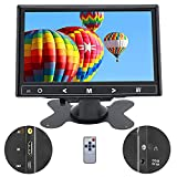 Beyi - Pantalla TFT LCD de 7 pulgadas, entrada AV/VGA/HDMI, ultra fina, portátil, monitor Full HD de 1024 x 600, con botones táctiles, altavoz integrado, compatible con cámara de seguridad