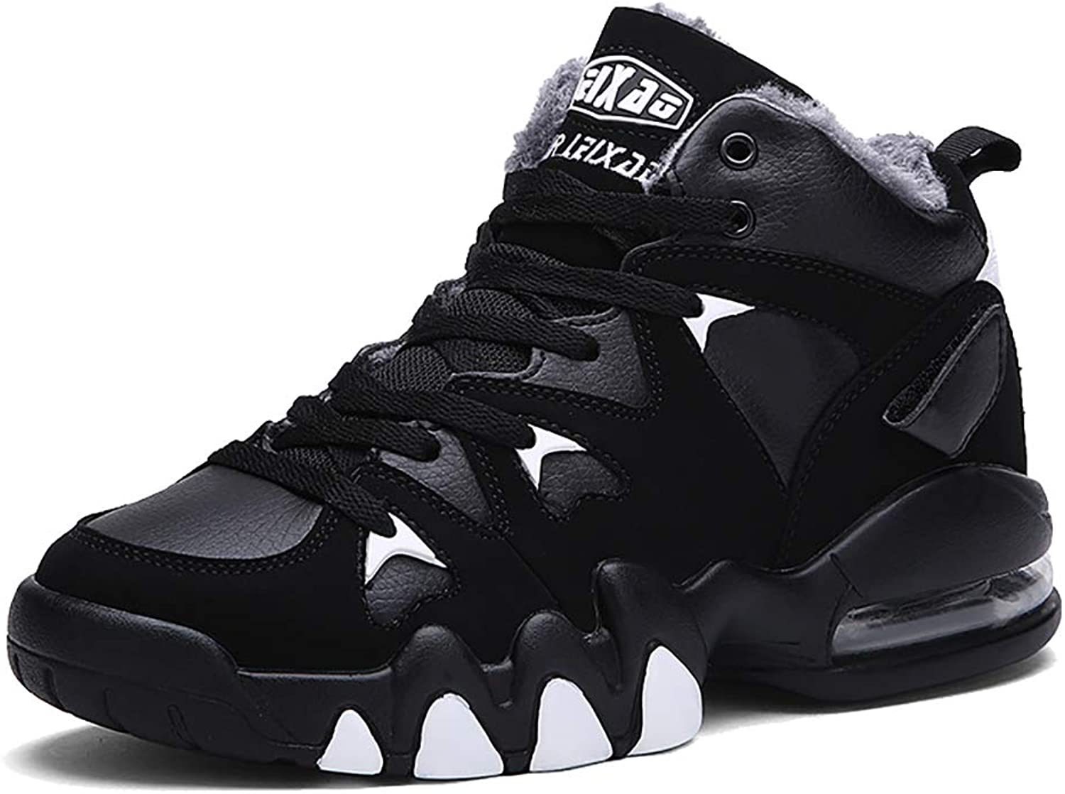 YVWTUC Male Strong Flexible PU Sole Basketball shoes Cozy Outdoor Sneakers