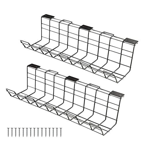 HJHQQ-CZYHG Conjunto de 2 Rejillas de Cable, Cesta de Cables, administración de...