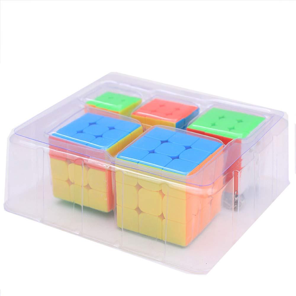 Moyu Mofang Jiaoshi MFJS Cube Cubing Classroom 5 Pack Colección de Mini 3x3x3 Cubos con Llavero: Amazon.es: Juguetes y juegos