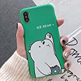 Cute Cartoon We Bare Bears Phone Case Cover, Soft TPU Case for iPhone 6 6s 7 8 Plus X XR XS Max (iPhone 6 6S)