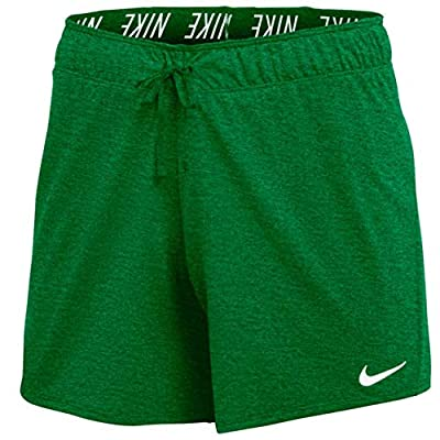 Nike Women's Dry Attack Training Short, Green/White, X-Large