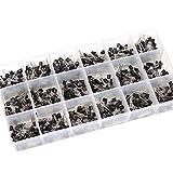 900 unidades de 18 tipos de transistor A1015-2N5551 NPN PNP Power General Purpose Transistors Surtido Kit