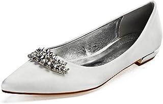 d1613c5ea2 Zapatos de Boda para Mujer Spring Fall Espumoso Artificial Diamante Nupcial  Zapatos de La Corte