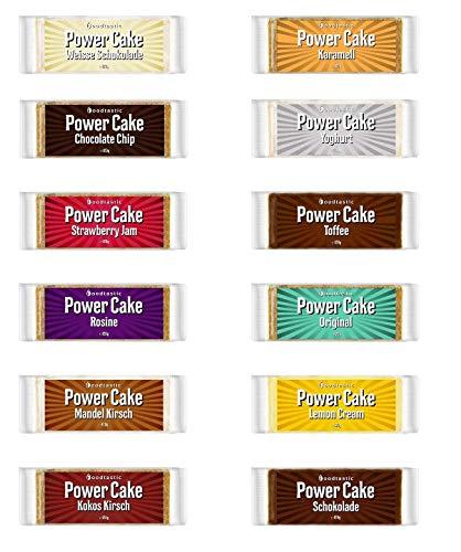 Foodtastic Power Cake Mix Box (24 x 120g) | leckere, saftige Haferriegel | handgemachte Flapjack Energieriegel aus Haferflocken