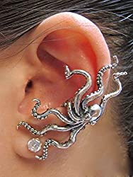 gifts for octopus lovers ~ ear cuff