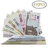 Spielgeld für Kinder, Color You 210 Stück Papiergeld, Rechengeld für Spielzeug Kasse | Spielwaren Kaufmannsladen 5, 10, 20, 50, 100, 200, 500 EURO