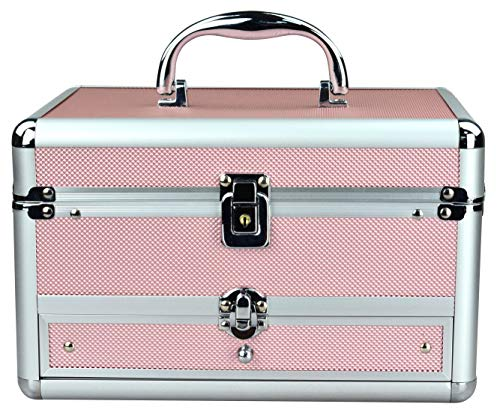 Reme Makeup Train Case Cosmetic Organizer Case With Trays and Drawer...