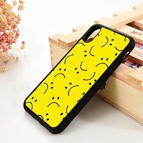 WGOUT para iPhone 5 5S 6 6S Funda de Gel de sílice de TPU Suavepara iPhone 7 Plus X XS 11 Pro MAX XRFundade teléfono Amarilla Sonriente, para iPhone SE