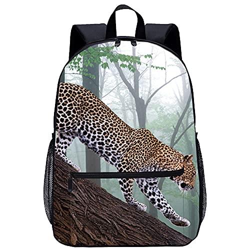 KKASD Sac à dos imprimé léopard des steppes Sac à dos d école pour femmes pour hommes, sac de voyage, sac d école 45x30x15cm Sac à dos pour enfants adultes