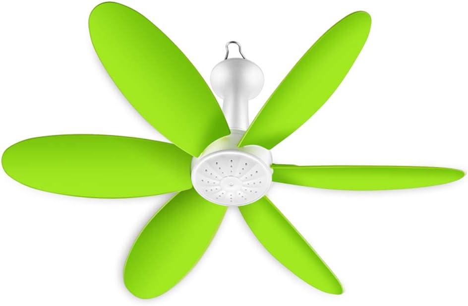 Enfriador evaporativo Ventilador De Techo Verde para El Hogar, Mini Ventilador De Red para Mosquitero EVA Blade 6