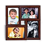 """Material - Premium Quality of Synthetic Wood Clear Poly Protection Sheet on Top for the safety of Photo Photo Size -4-4""""x6""""Inch and Frame on wall size - 1-Feet x 1-Feet."""