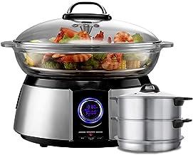 Cuiseur à vapeur électrique, légumes à cuisson rapide et aliments sains, Cuiseur à vapeur électrique multifonction pour mé...