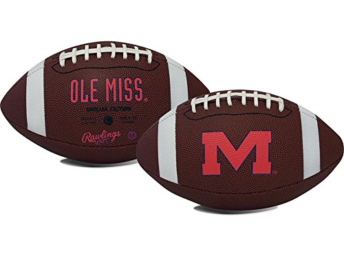 NCAA Game Time Full Size Football , Mississippi Rebels, Brown, Full Size