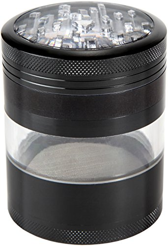 "Zip Grinders, Mega Crusher [Upgraded], Extra Large Herb Grinder, 2.5"" x 3.5"", Black"