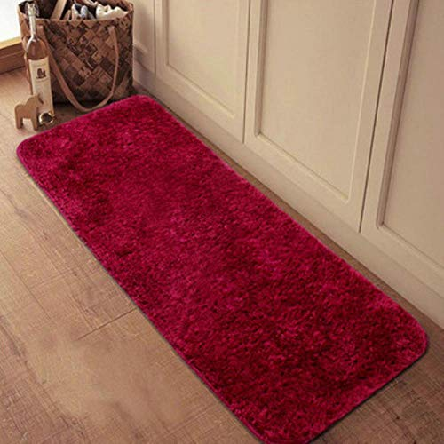 Cula Shaggy - Alfombra para salón, hogar, de felpa cálida, mullida, de piel sintética, para sala de estar, granate, 80 x 120 cm