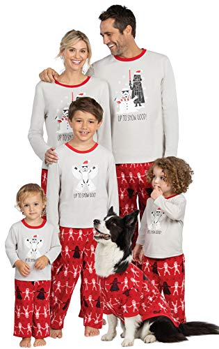 PajamaGram Star Wars Christmas Pajamas, Red, 12