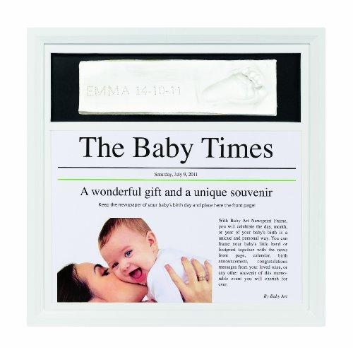 Baby Art Cadre Photo News Print Frame - Blanc / Blanc-Noir