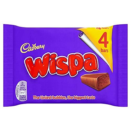 Original Cadbury Wispa Chocolate Bar, 4 pack-Imported from the UK, England