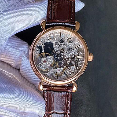 xiaoxioaguo Clásico movimiento de los hombres de la parte superior mecánico reloj de los hombres ultra delgado 9mm al aire libre de negocios reloj simple