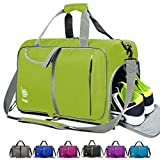 bago Gym Bags for Women and Men - Small Packable Sports Duffle Bag for Women with Shoe Compartment and Wet Pocket (40 Liter Green)