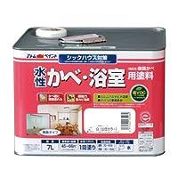 アトムハウスペイント 水性かべ・浴室用塗料(無臭かべ) 7L 白