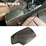 LIMBQS 328i 435i Armrest Cover, Carbon Fiber Color Center Consoles Pad for BMW F30 F32 F34 (ABS Material)