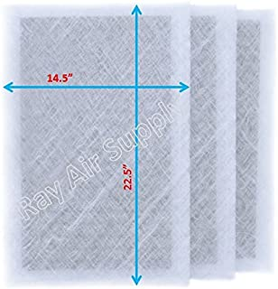 RAYAIR SUPPLY 16x25 Air Ranger Replacement Filter Pads 16X25 (3 Pack) White