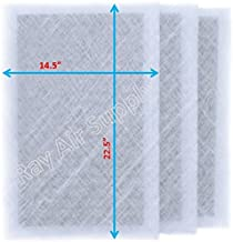 RAYAIR SUPPLY 16x25 Dynamic Air Cleaner Replacement Filter Pads 16X25 Refill (3 Pack) White