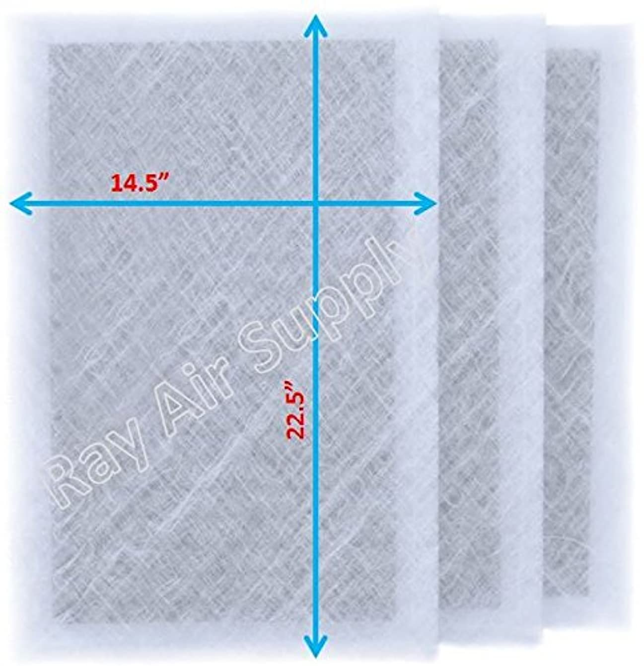 RAYAIR SUPPLY 16x25 MicroPower Guard Air Cleaner Replacement Filter Pads (3 Pack) White