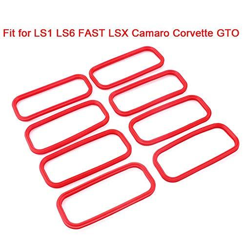 LS Intake Manifold Lower Seal O-ring Gasket Set Fit for LS1 LS6 FAST LSX Camaro Corvette GTO Intake Manifold
