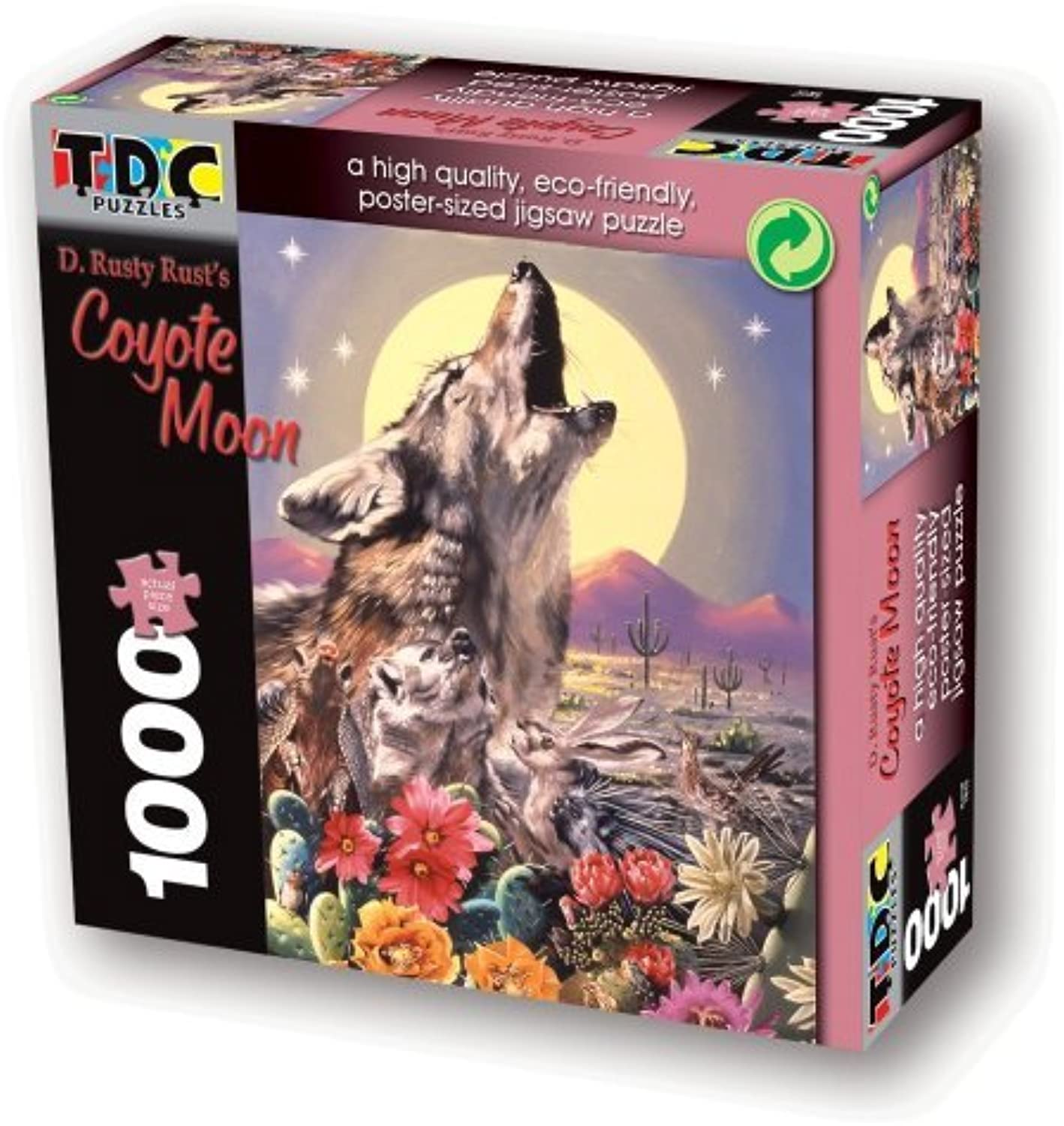 TDC Games Eco Friendly Puzzle - Coyote Moon by TDC Games
