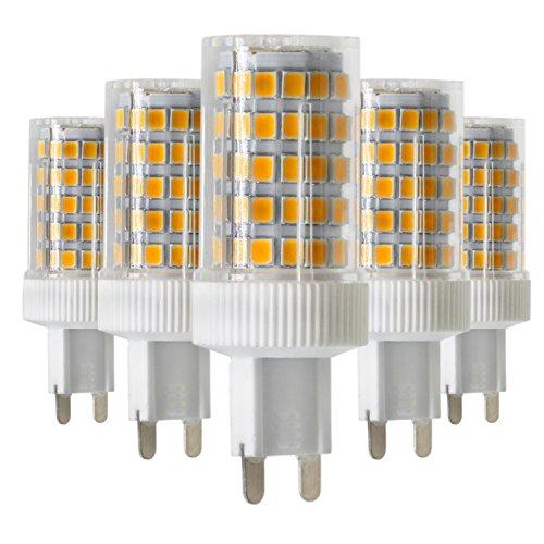 Yuxinmaoyigongsi Bombilla halógena LED G9 10W (Reemplazo equivalente de 70W Incandescente) Proyector de 360 grados 2700K / 4000K / 6000K Bombillas blancas suaves ajustables de luz natural para lámpa