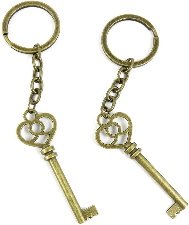 100 PCS Keyrings Keychains Key Ring Chains Tags Jewelry Findings Clasps Buckles Supplies G2KI6 Magic Key