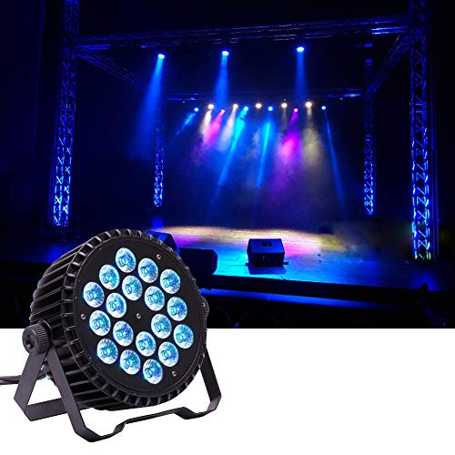 UKing Foco LED Par DMX 18 x 10W Luces de Escenario RGBW Iluminación Focos de Discoteca para Luz DJ Disco Boda Bar Fiesta Luce de Etapa