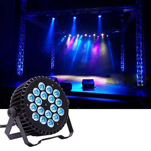 U`King Led-paarlampen, met 18 leds x 10 W verlichting, RGBW lichteffect van DMX 512 krachtige podiumverlichting voor DJ Disco Club Partyverlichting
