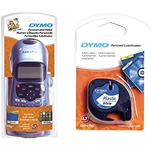 Dymo LetraTag LT-100H Label Maker with Dymo LetraTag Labelling Tape 12 mm x 4m