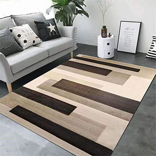 RugMRZ Klein tapijt tegen vocht en antislip, geometrisch patroon met grijze strepen, voor slaapkamer en woonkamer en keuken 50X80CM-A2 Metálico