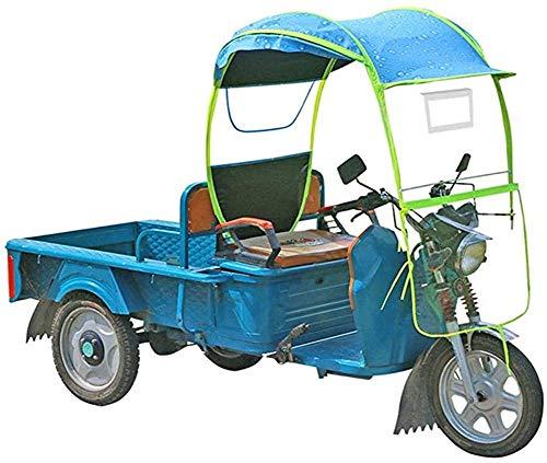 JJYY Mobility Scooter Sun Rain Wind Cover Coche eléctrico Prevención Paraguas, Universal Car Motor Scooter Paraguas Mobility Sun Shade Rain Cover Impermeable-Extraíble, A