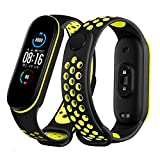 RYTECH Straps Bracelet for Xiaomi Mi Band 5, Soft Silicone Replacement Band Adjustable Sport Smart Wristband for Xiaomi Mi Band 5, Soft, Beautiful, Comfortable (Black&Green)