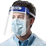 フェイスガード フェイスシールド 透明シールド フェイス 保護カバー 飛沫対策 曇り止め 調整可能 防護ゴーグル・眼鏡かけたまま使える 保護シールド プラスチック製 軽量 (10枚入) (10)