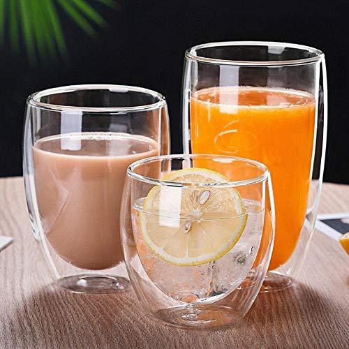 SMNHSRXH glazen 250/350/450 ml koffiemok wijnglas melk dubbelwandig whisky glas-isolatie waterbeker drinkwaren
