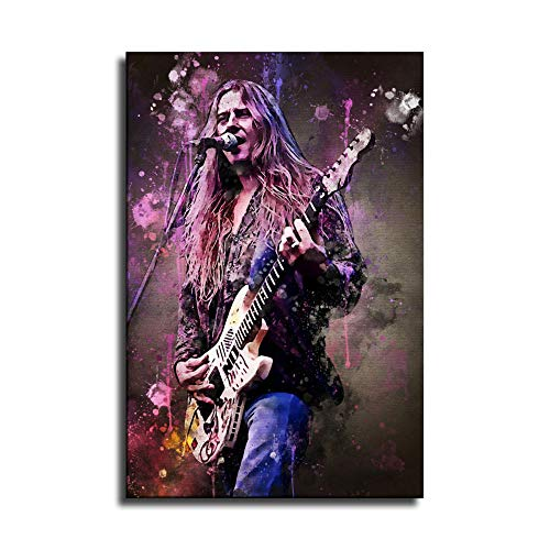 FANER Jerry Fulton Cantrell jr HD Printing 90s Guitarist Poster Album Poster Old Singer Watercolor Painting Posters Printing Art Pictures Ready to Hang