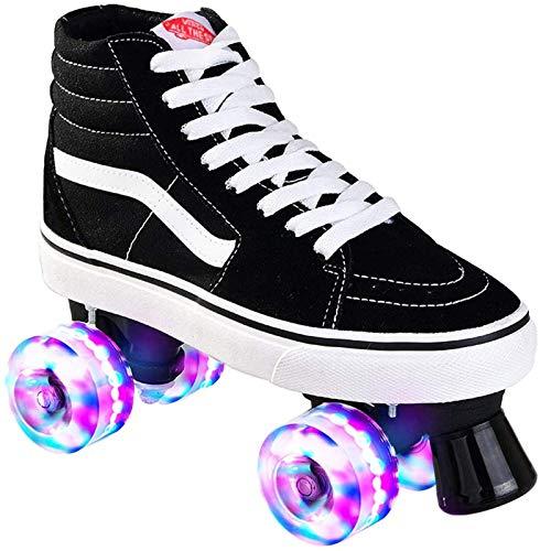 Leinwand Rollschuhe Für Kinder Und Jugendliche Mit 4 Rollen Roller Skates Disco Roller Skate Indoor Outdoor, Komfortable Roller-Skates Für Mädchen Und Jungen B,42