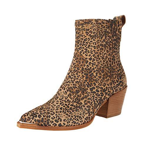 Dolce Vita Serna Tan/Black Dusted Leopard Suede 9 M