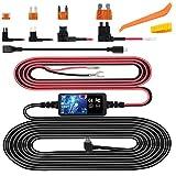 Dash Cam Hardwire Kit, Mini USB Hard Wire Kit Fuse for Dashcam, Plozoe 12V-24V to 5V/2A Car Dash Camera Charger Power Cord(11.5ft)