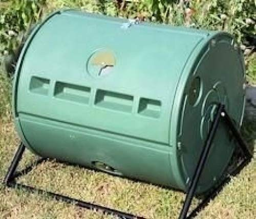 Check Out This Sylvan 57 Gallon! Dual Spin Barrel Tumbler Composter for Home Gardening Composting